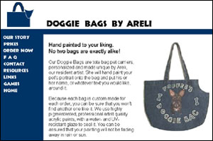 Doggie Bags by Areli - This company is no longer online.